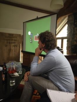 Eric Johansson contemplates