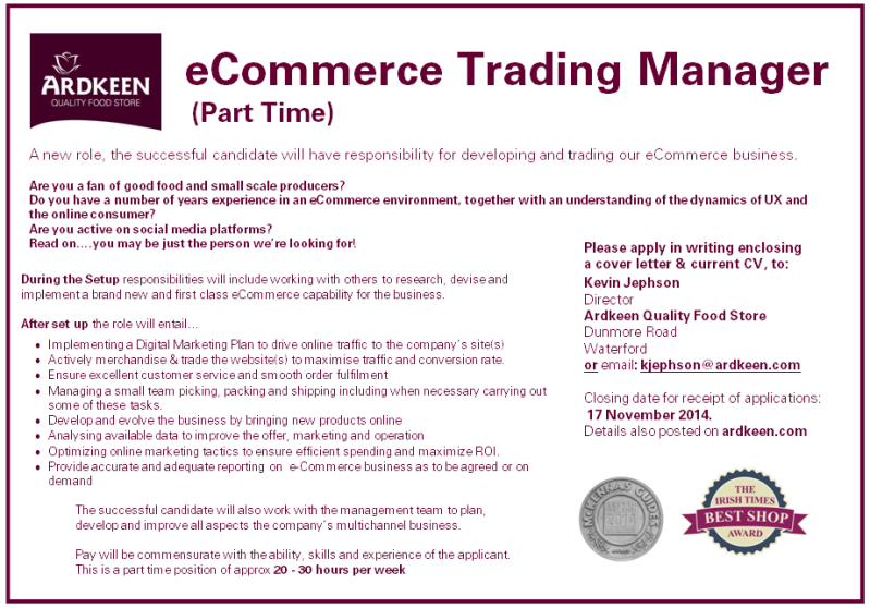 eCommerce Trading manager