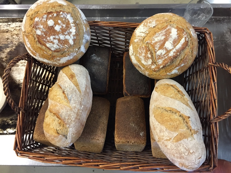 A full basket of tasty real breads was ours to take home